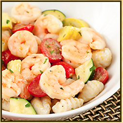 Gnocchi with Island Lime Shrimp and Summer Vegetables
